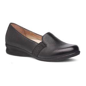 Dansko Addy Black Leather Loafer Slip On Flats